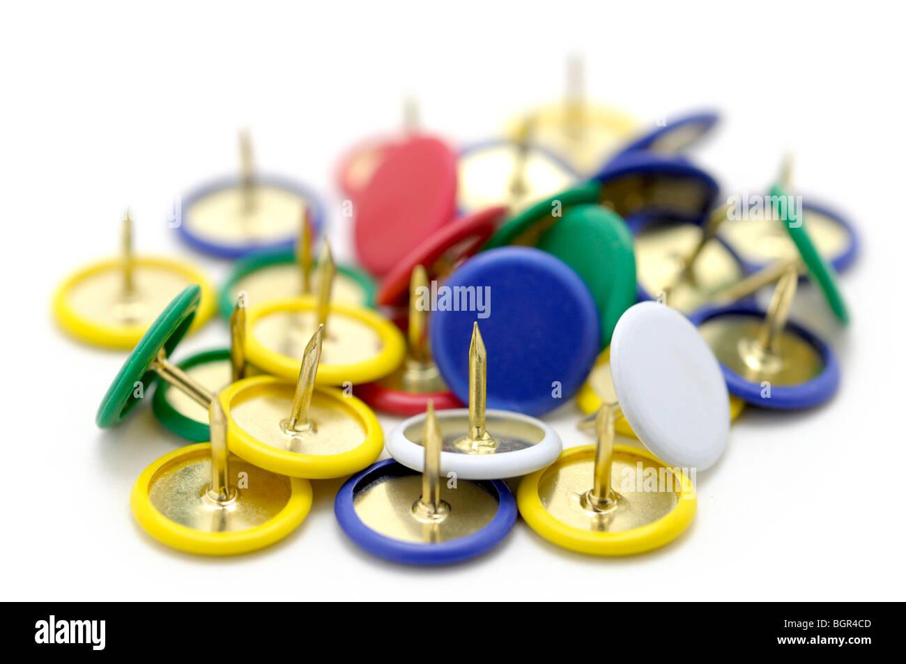 Thumb Tacks/ Push Pins - Stock Image