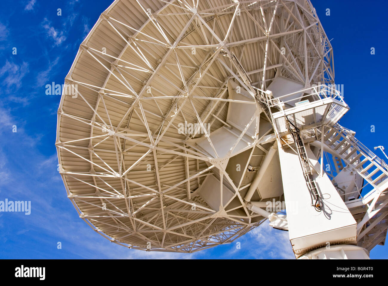 Radio Telescope, one of 27, located in an adjustable 'Y' arrangement on the Plains of Augustine, near Socorro, - Stock Image
