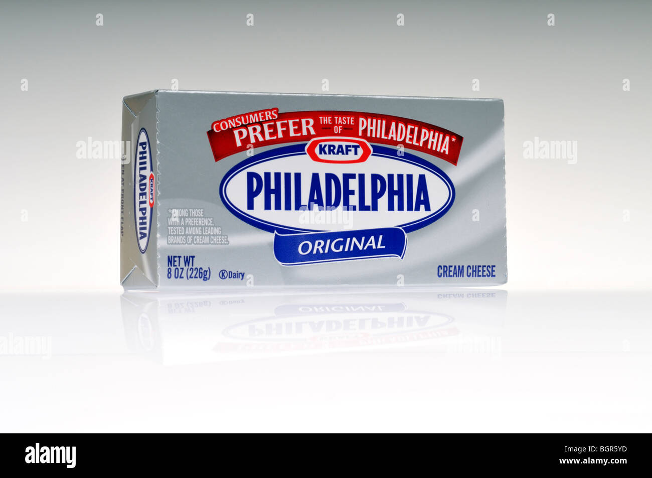 A package of Kraft Foods Philadelphia Cream Cheese - Stock Image