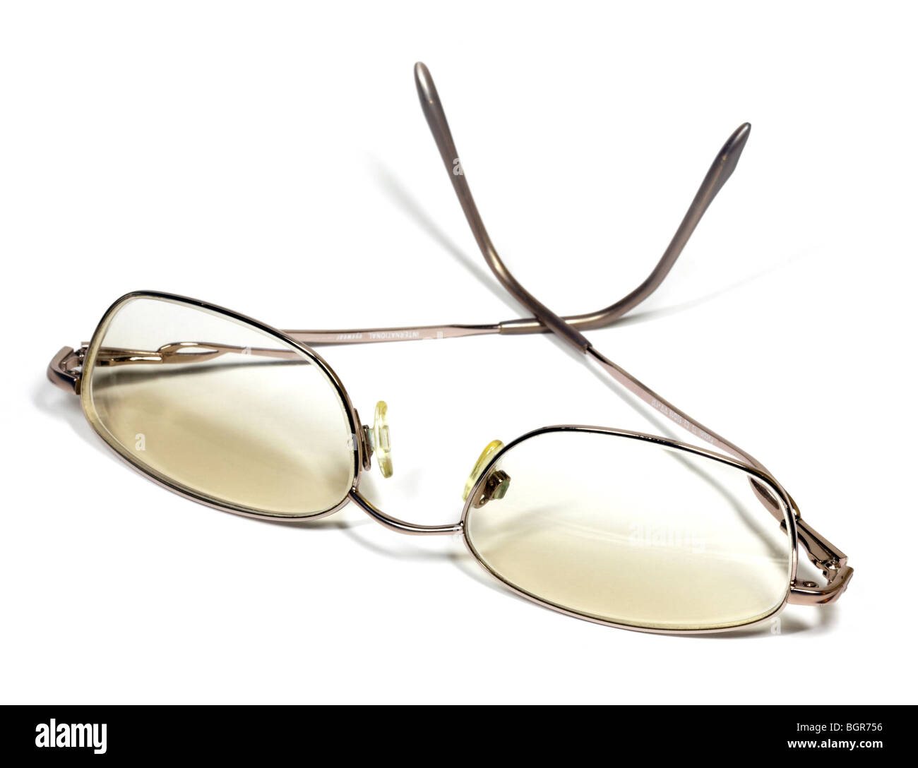 Ladies Wire-Rimmed Spectacles - Stock Image