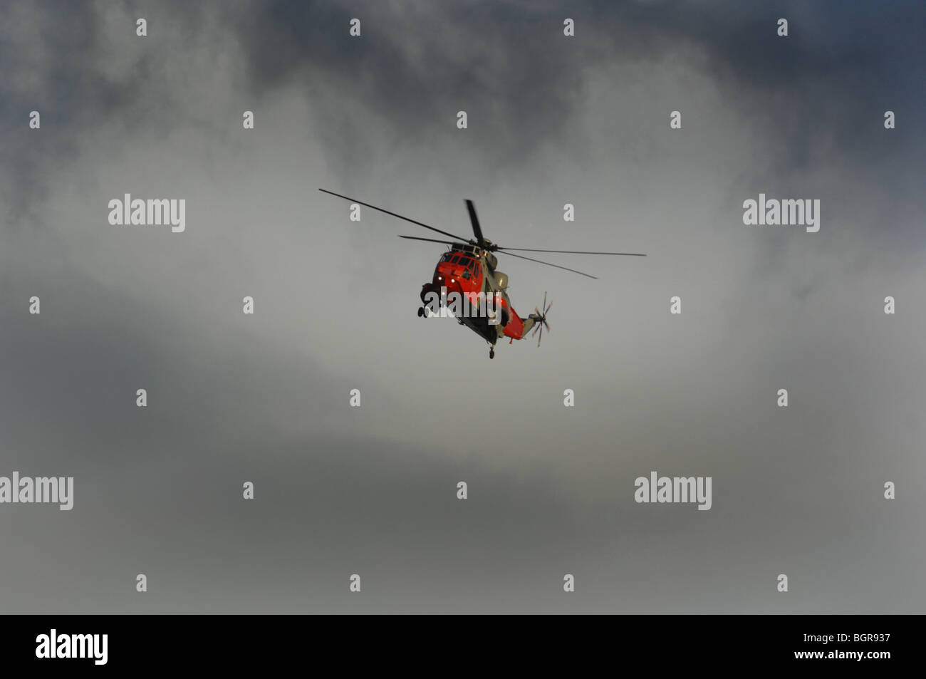 A Royal Navy rescue helicopter - Stock Image