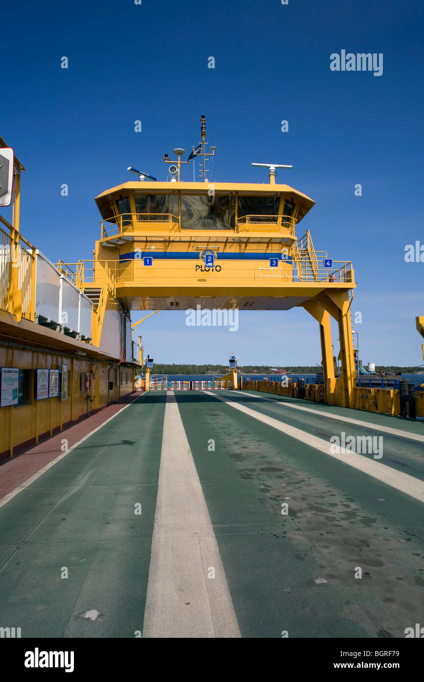 A car ferry, Sweden. - Stock Image