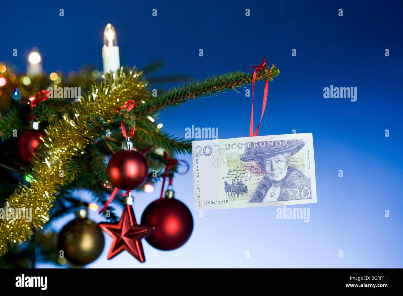 Christmas Tree Bill.Bill Hanging In A Christmas Tree Stock Photo 27561957 Alamy