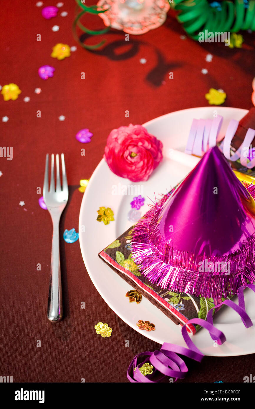 Table laid for a party. - Stock Image