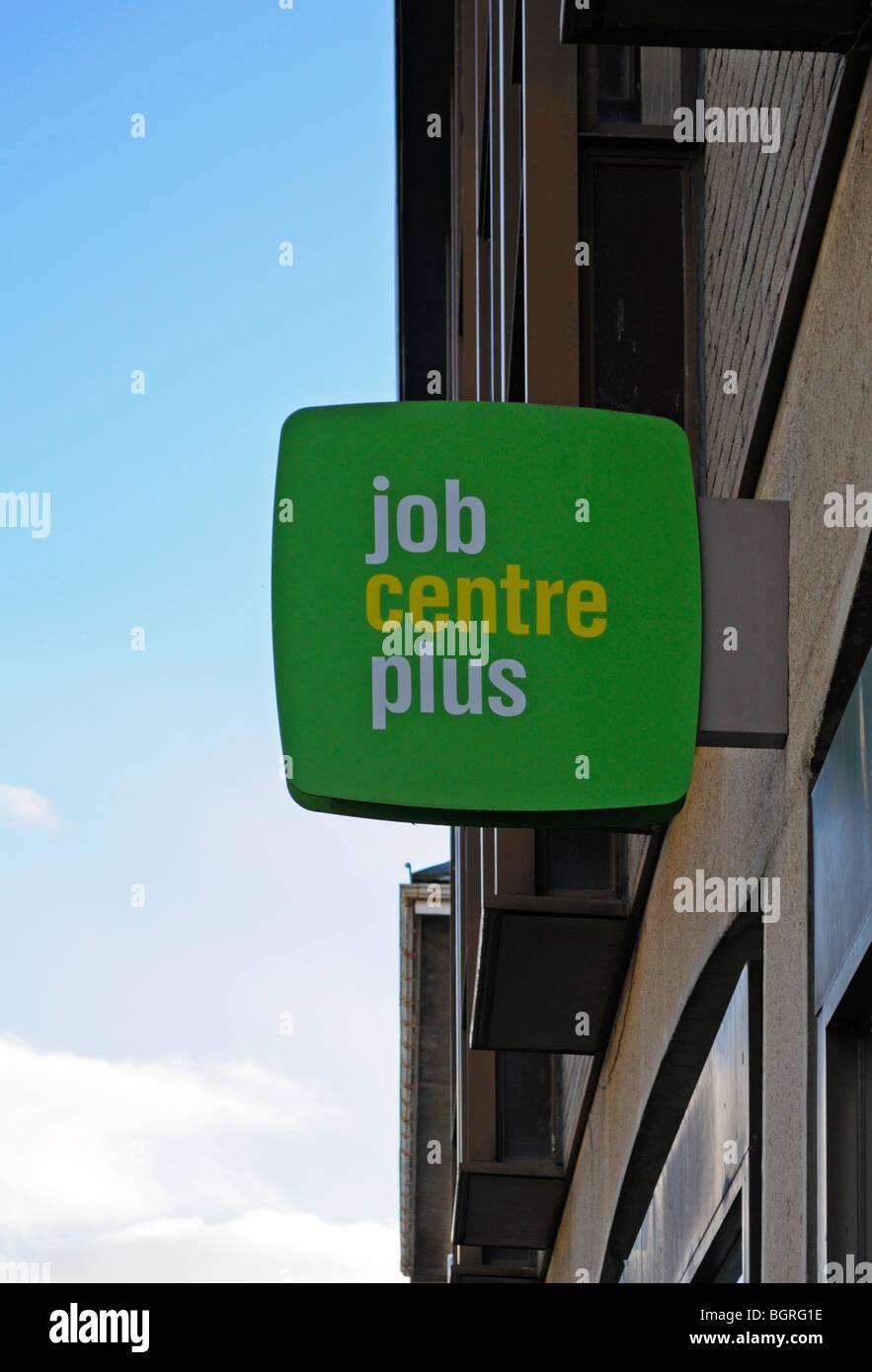 "a "" job centre plus "" sign Stock Photo"