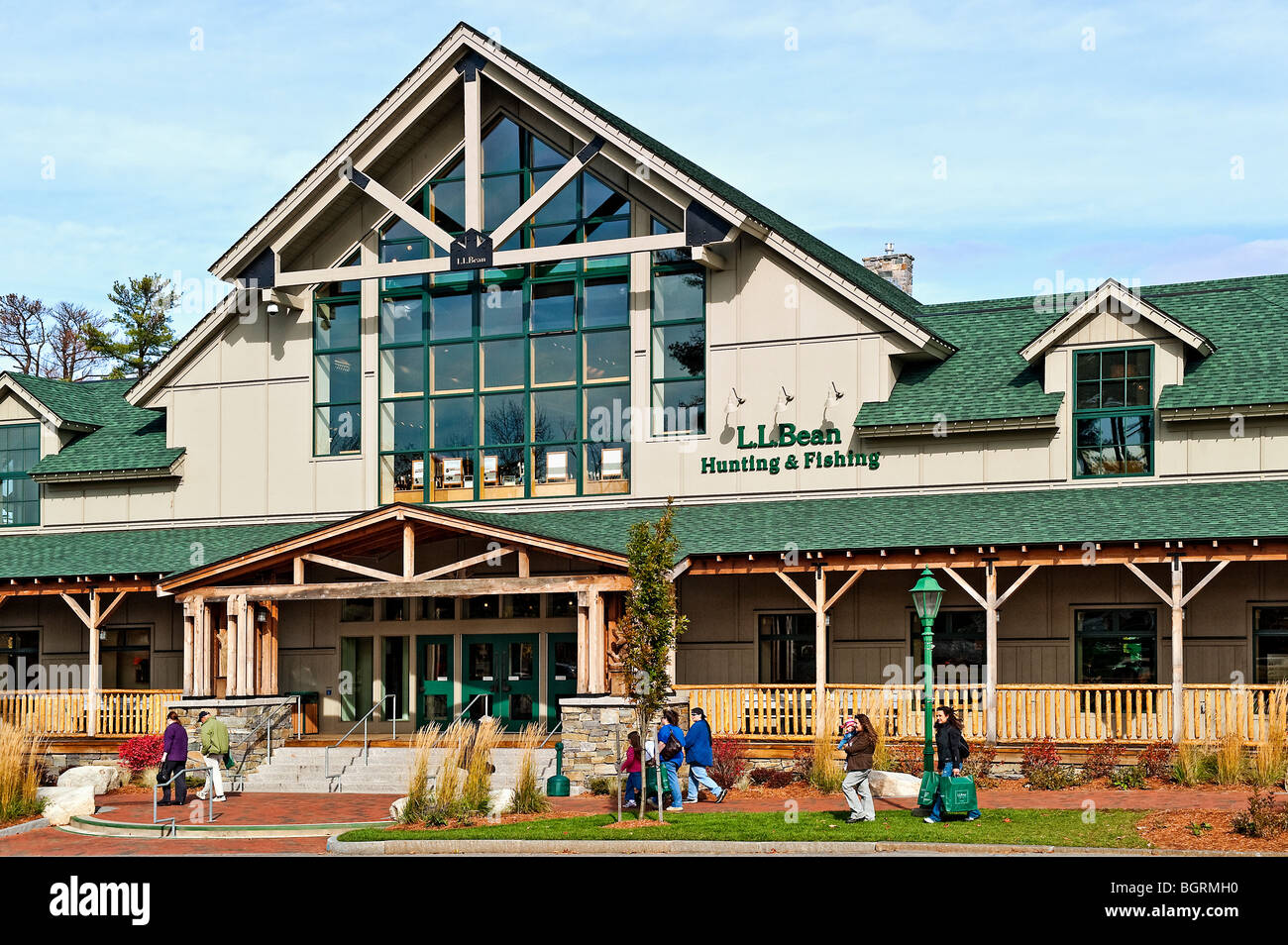 LL Bean flagship store, Freeport Maine, Maine, USA - Stock Image