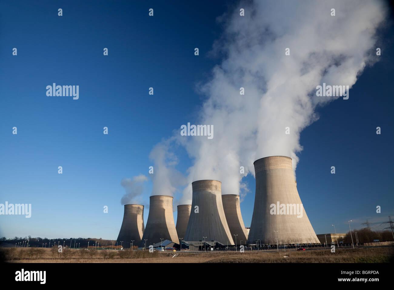 Ratcliffe on Soar coal fired power station. Ratcliffe, Nottinghamshire, UK - Stock Image