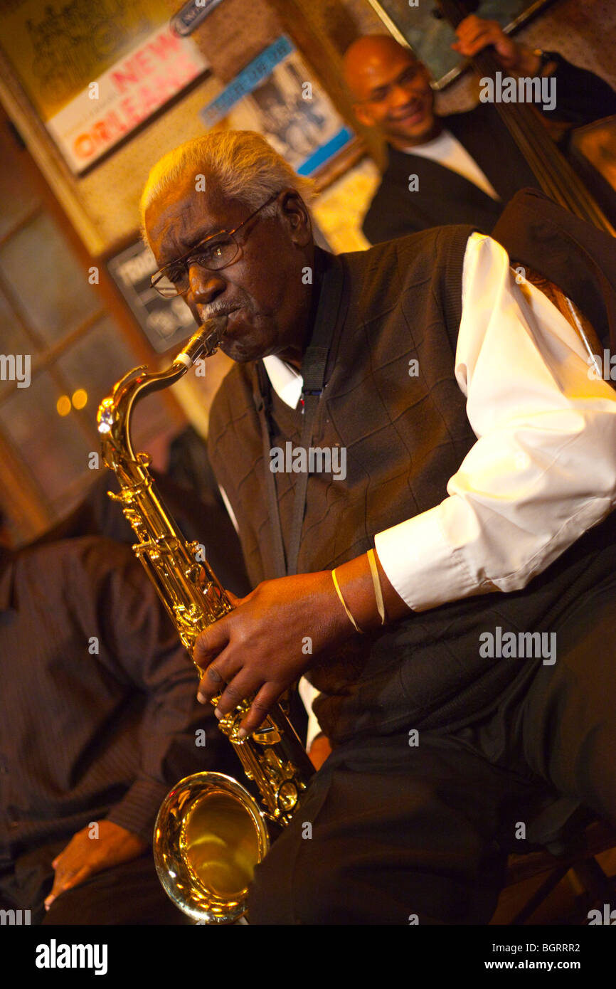Jazz at Preservation Hall in New Orleans, LA - Stock Image