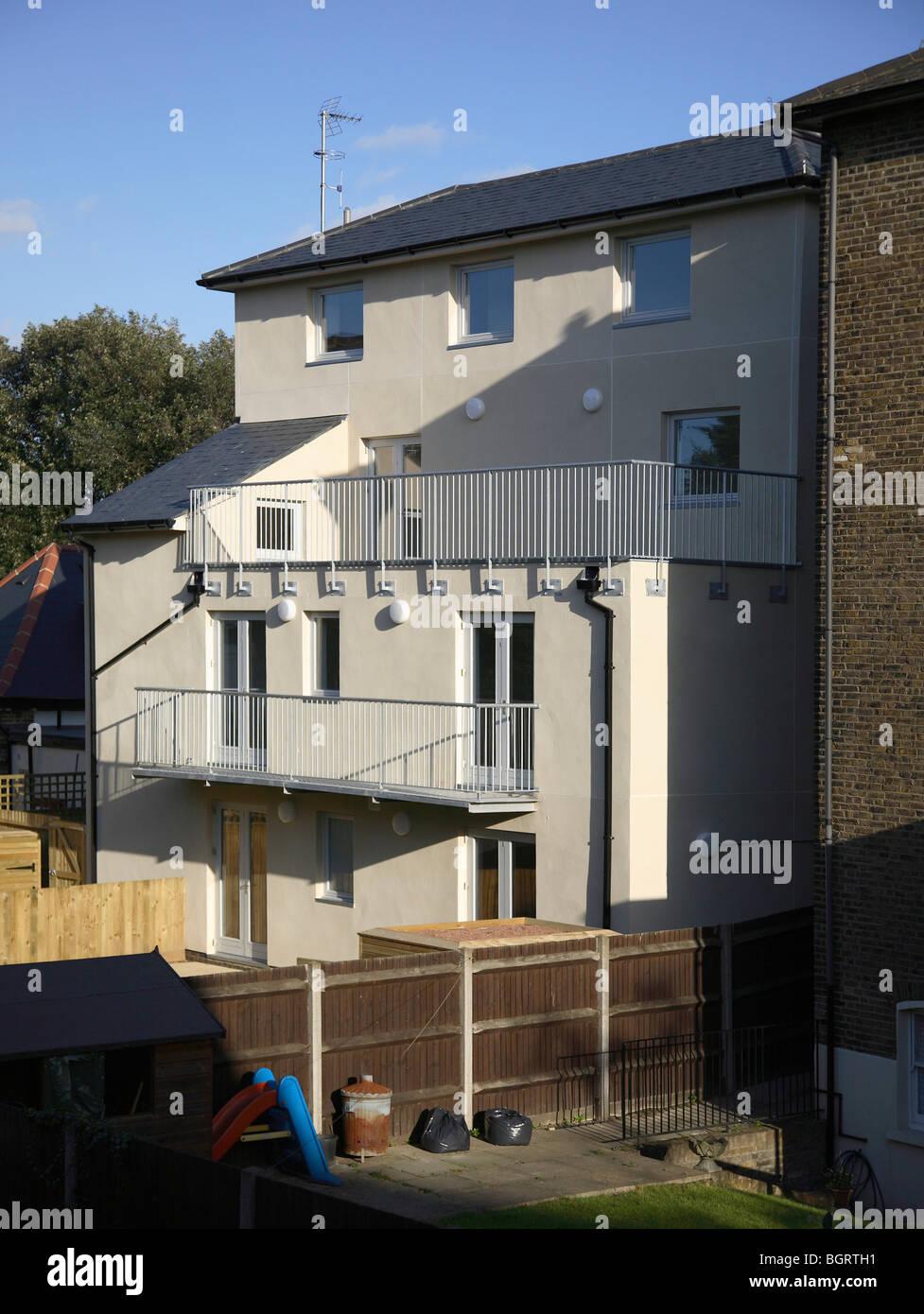 ANGELA CARTER CLOSE, LONDON, UNITED KINGDOM, ANNE THORNE ARCHITECTS PARTNERSHIP - Stock Image