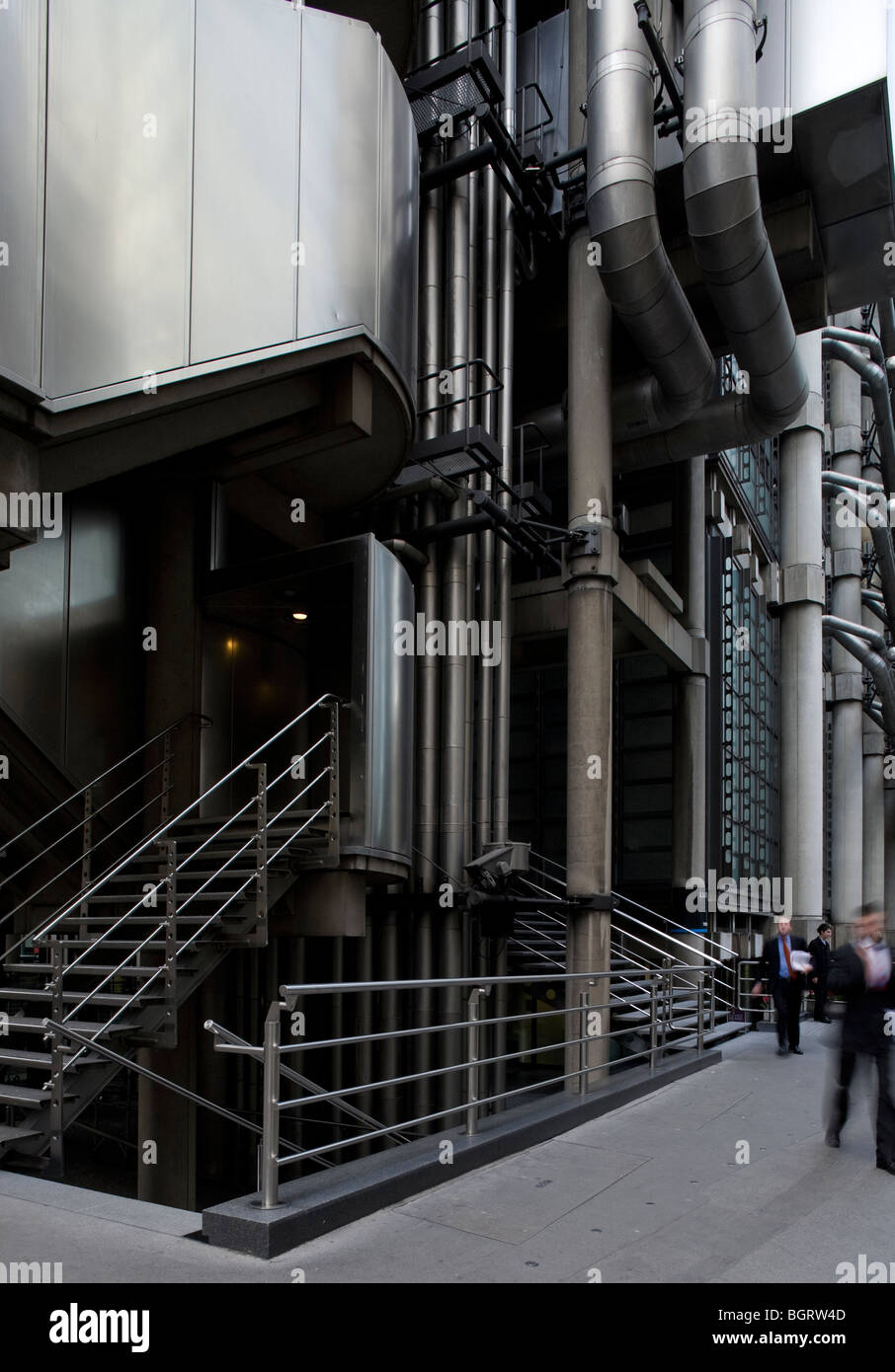 Lloyd's of London, designed by Richard Rogers Partnership architects. I've accentuated the muscularity of - Stock Image
