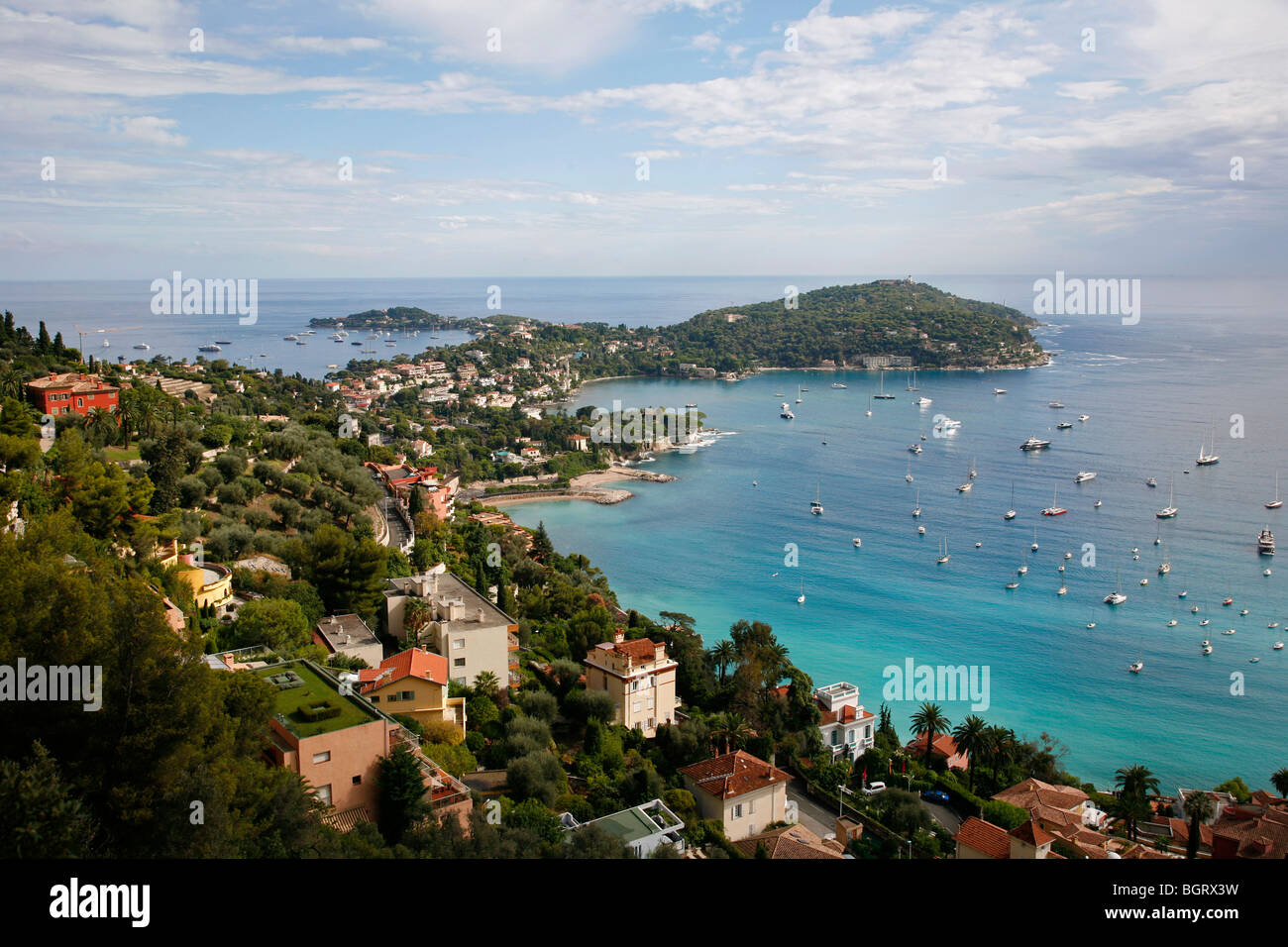 View of Villefranche sur Mer, Cote d'Azur, Alpes Maritimes, Provence, France. - Stock Image