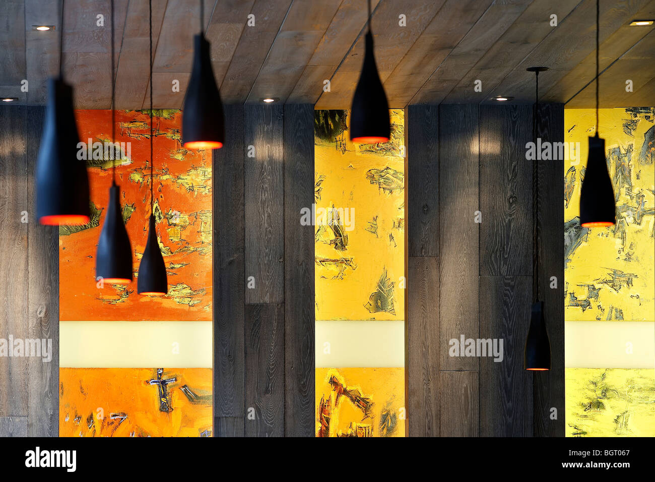 nando\'s restaurant spinningfields manchester, close up of wall Stock ...