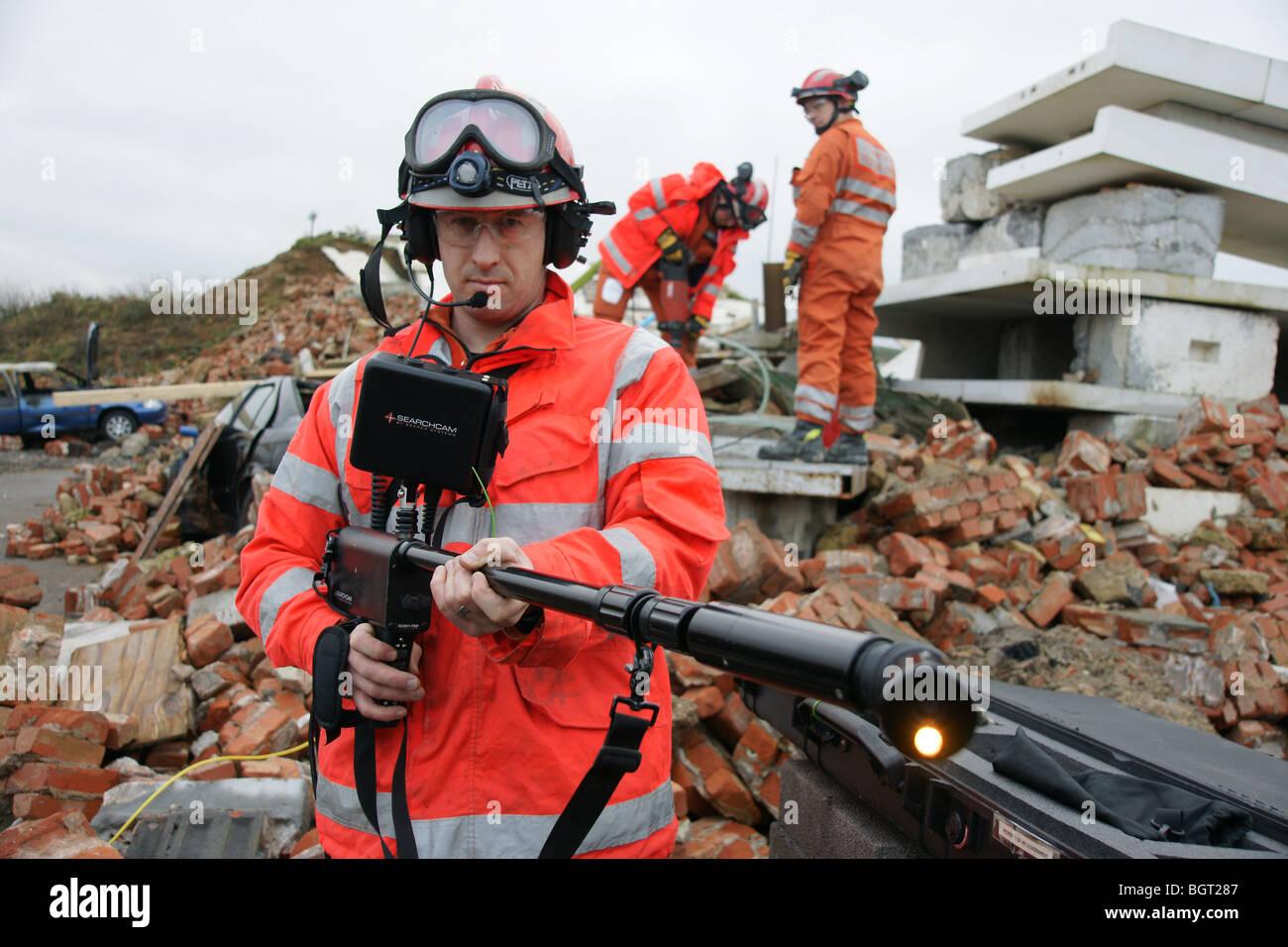 USAR at  earthquake, disaster area, - Stock Image