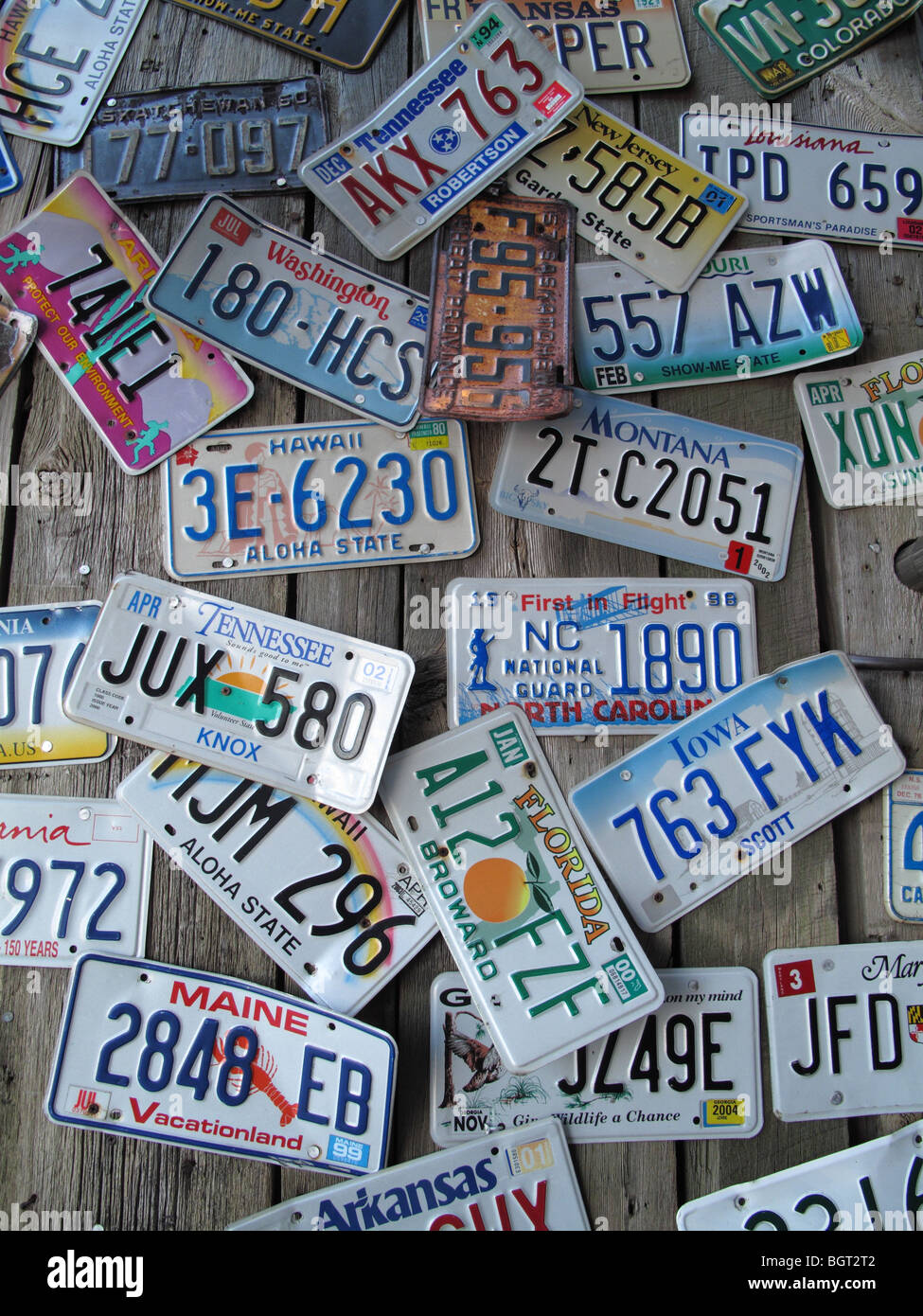American number plates - Stock Image
