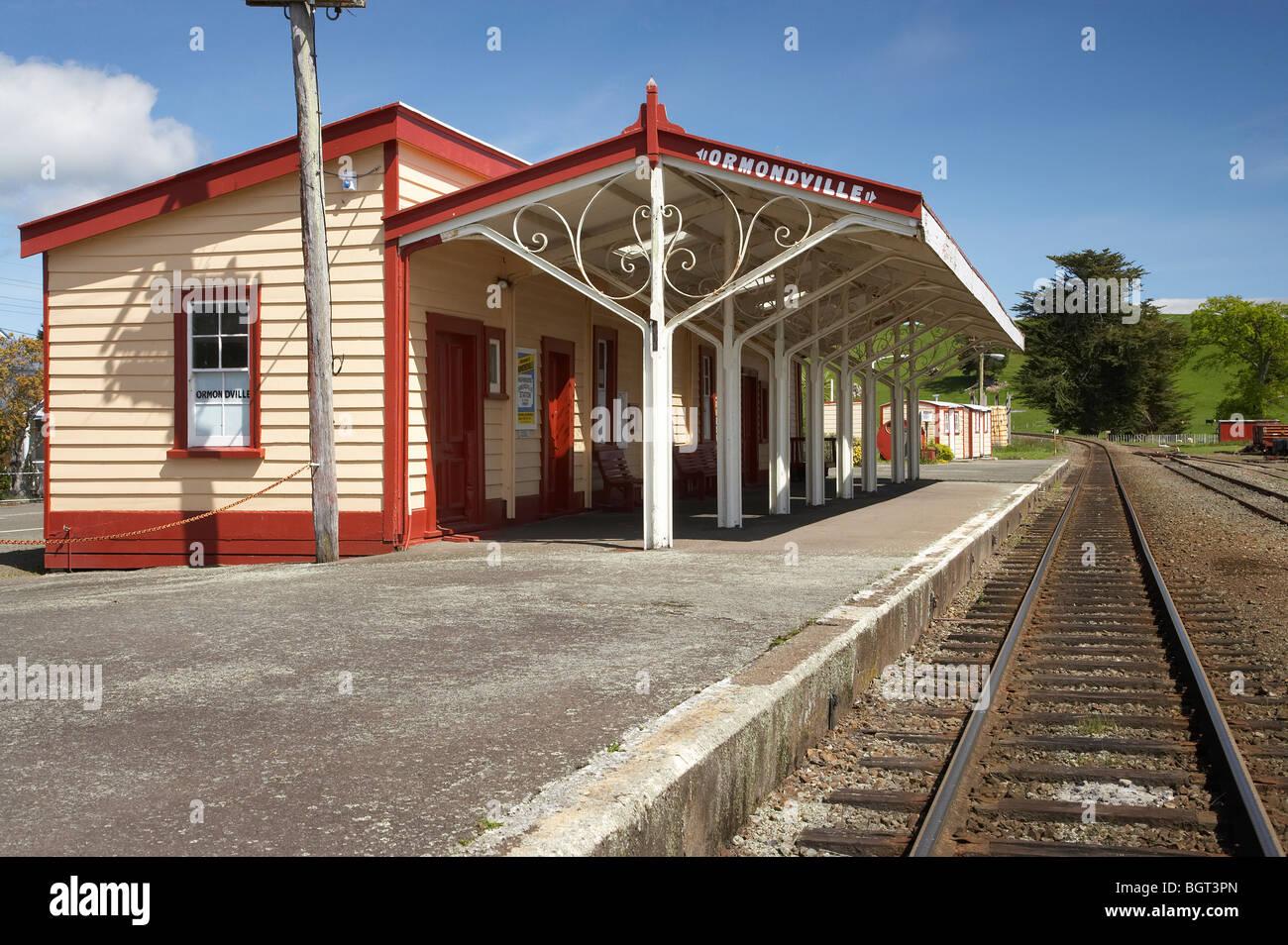 Historic Railway Station, Ormondville, Tararua District, Wairarapa, North Island, New Zealand - Stock Image