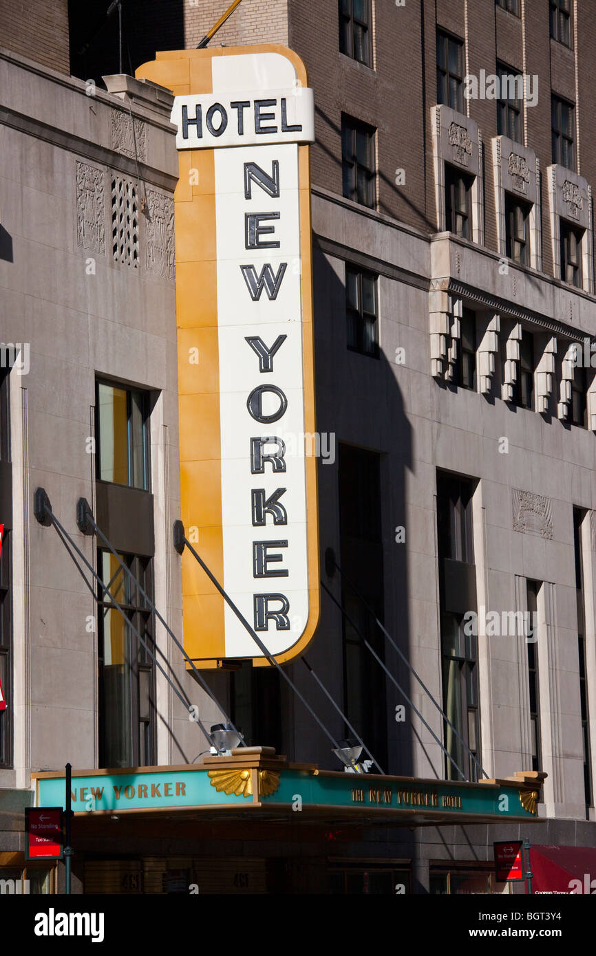 New Yorker Hotel Buidling in Midtown Manhattan, New York City - Stock Image