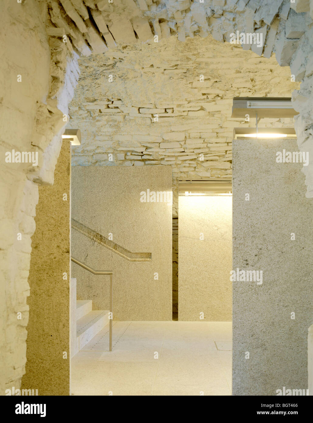 MAYNOOTH CASTLE EXHIBITION SPACE, DUBLIN, IRELAND, DE BLACAM AND MEAGHER - Stock Image