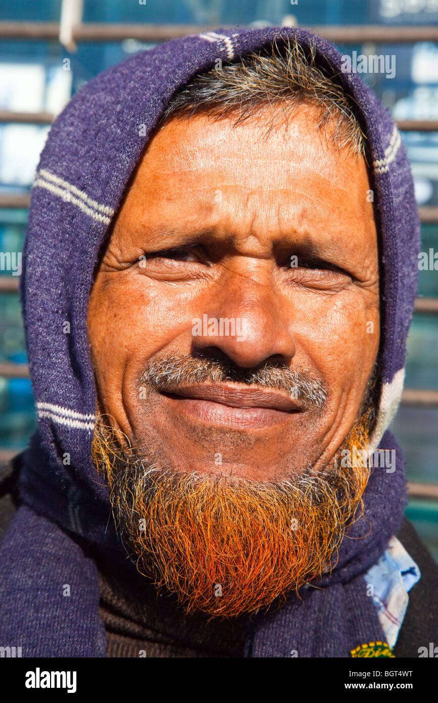 Bearded Bangladeshi Immigrant in Queens, New York City - Stock Image