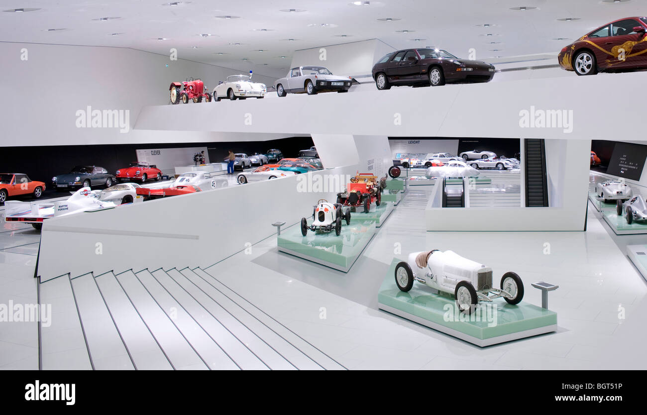 porsche museum stuttgart germany 2009 stock photo. Black Bedroom Furniture Sets. Home Design Ideas