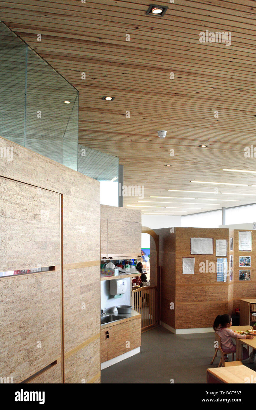 JOHN PERRY CHLDREN?S CENTRE AND NURSERY, LONDON, UNITED KINGDOM, DSDHA ARCHITECTS - Stock Image