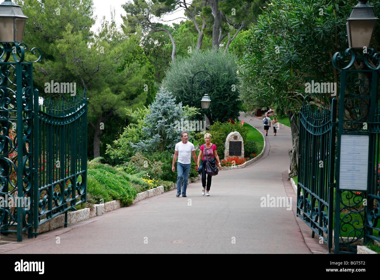 Saint Martin Gardens, Monaco Ville, Monaco. - Stock Image