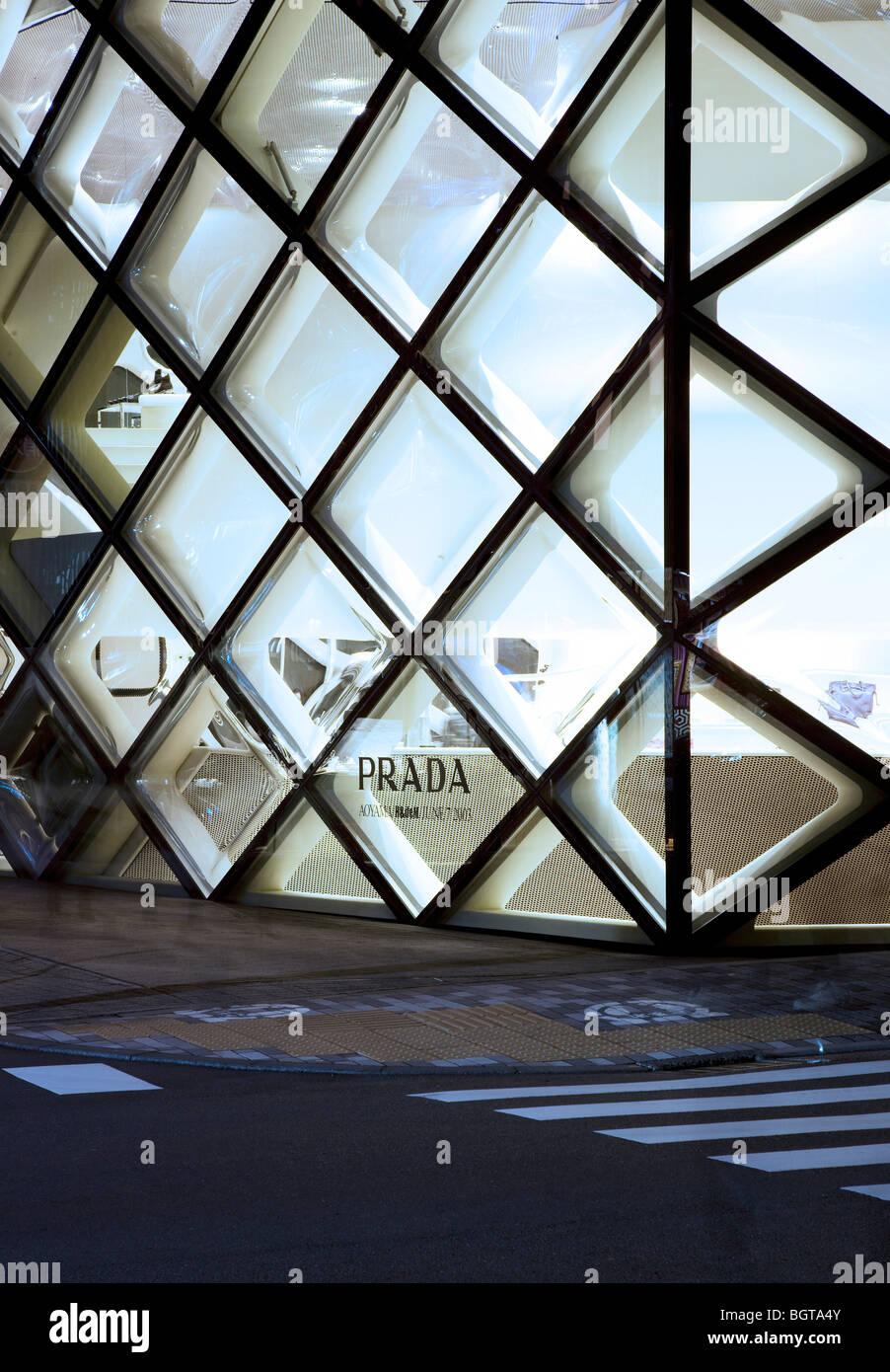 PRADA STORE, TOKYO, JAPAN, HERZOG & DE MEURON Stock Photo