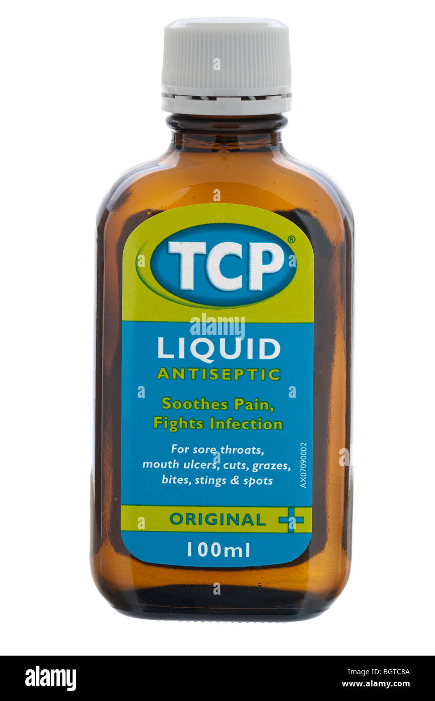 Bottle Top Screw Lid Stock Photos Bite Fighters Lotion Roll On 100ml Of Liquid Tcp Antiseptic Image