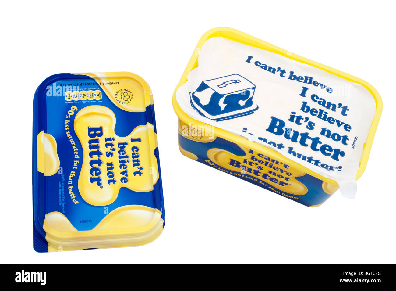 Tub of I cant believe its not butter margarine - Stock Image