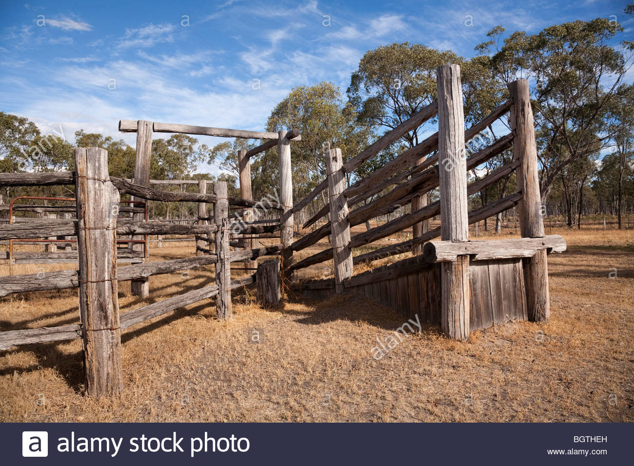 Cattle Yards Near The Park Headquarter Mount Moffat Section Of