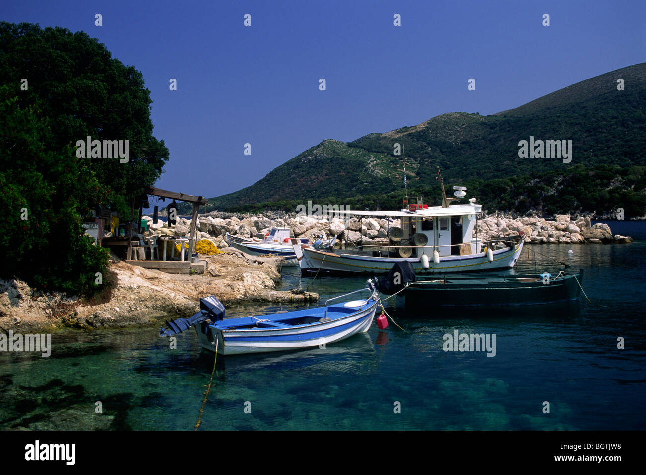 greece, ionian islands, kefalonia, atheras Stock Photo
