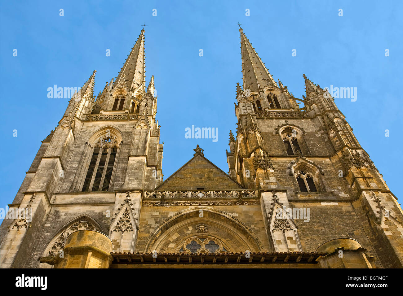 SAINTE-MARIE CATHEDRAL, BAYONNE Stock Photo