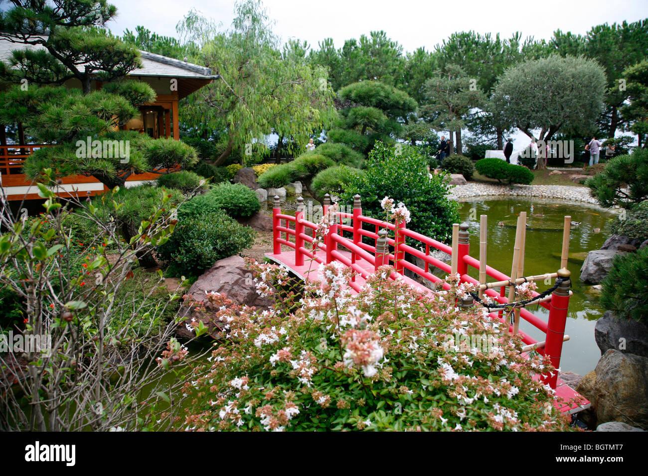 Jardin Japonais, the Japanese Gardens in Monte Carlo, Monaco Stock ...