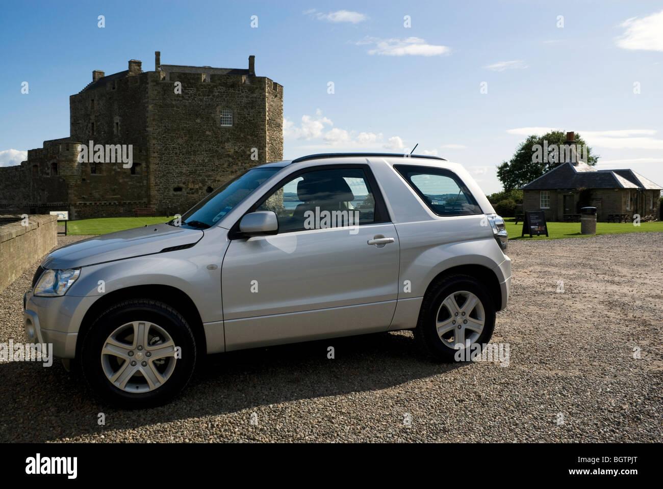 Suzuki Vitara at Blackness Castle Stock Photo