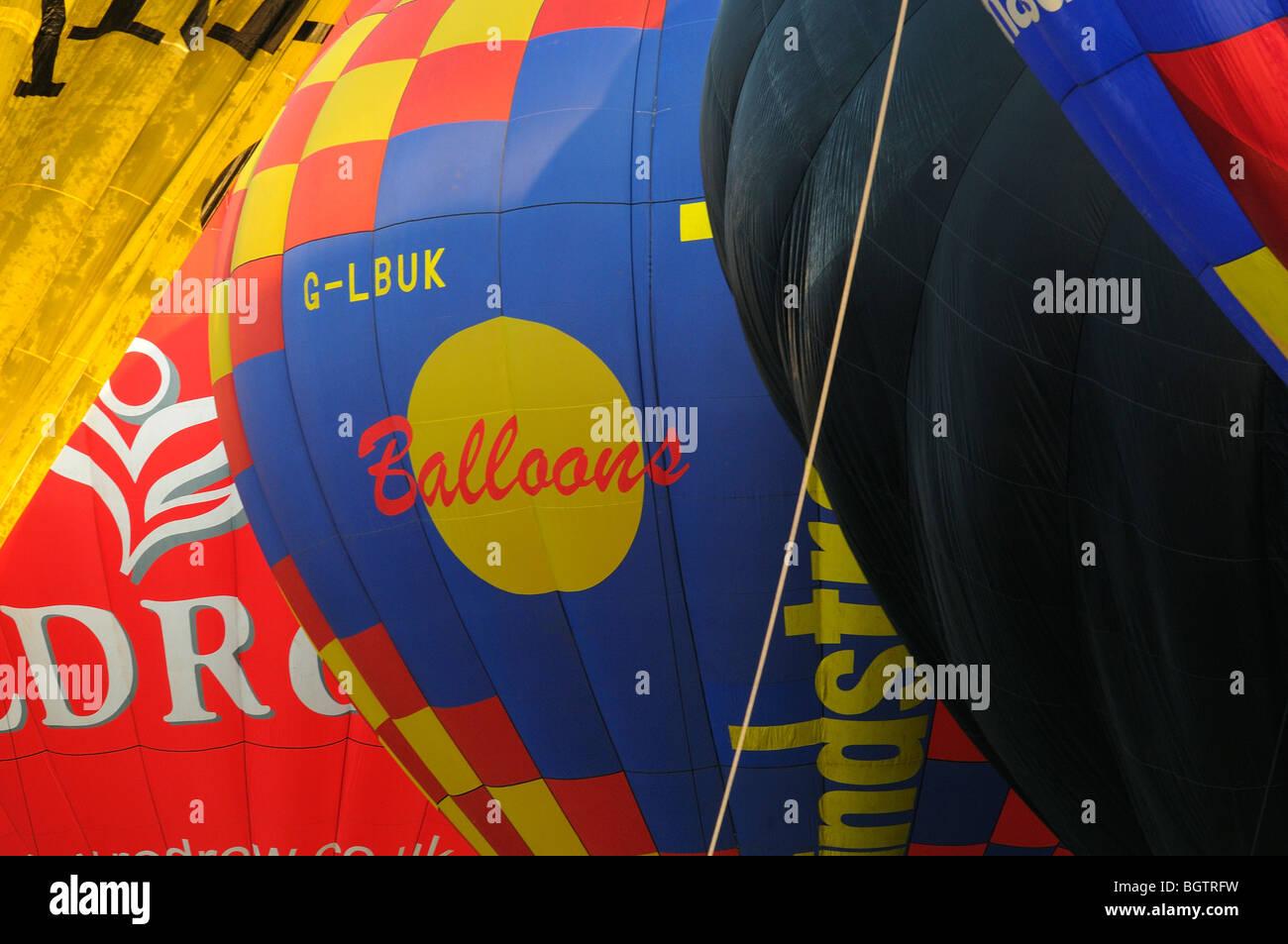 Hot Air Balloons, Bristol Festival 2009, UK. - Stock Image