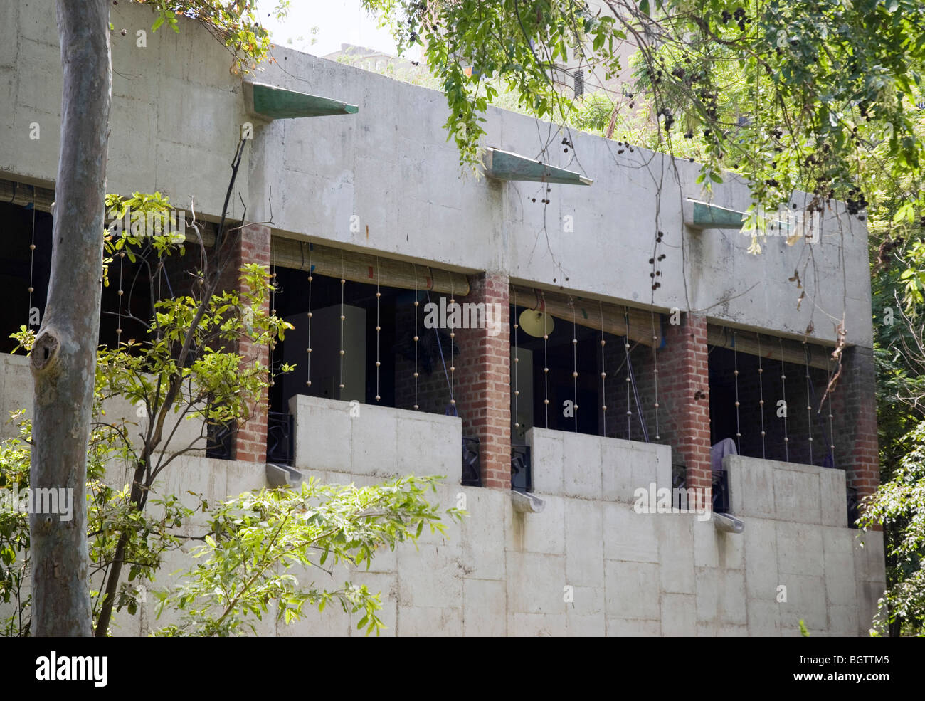 SARABHAI HOUSE, AHMEDABAD, INDIA, LE CORBUSIER - Stock Image