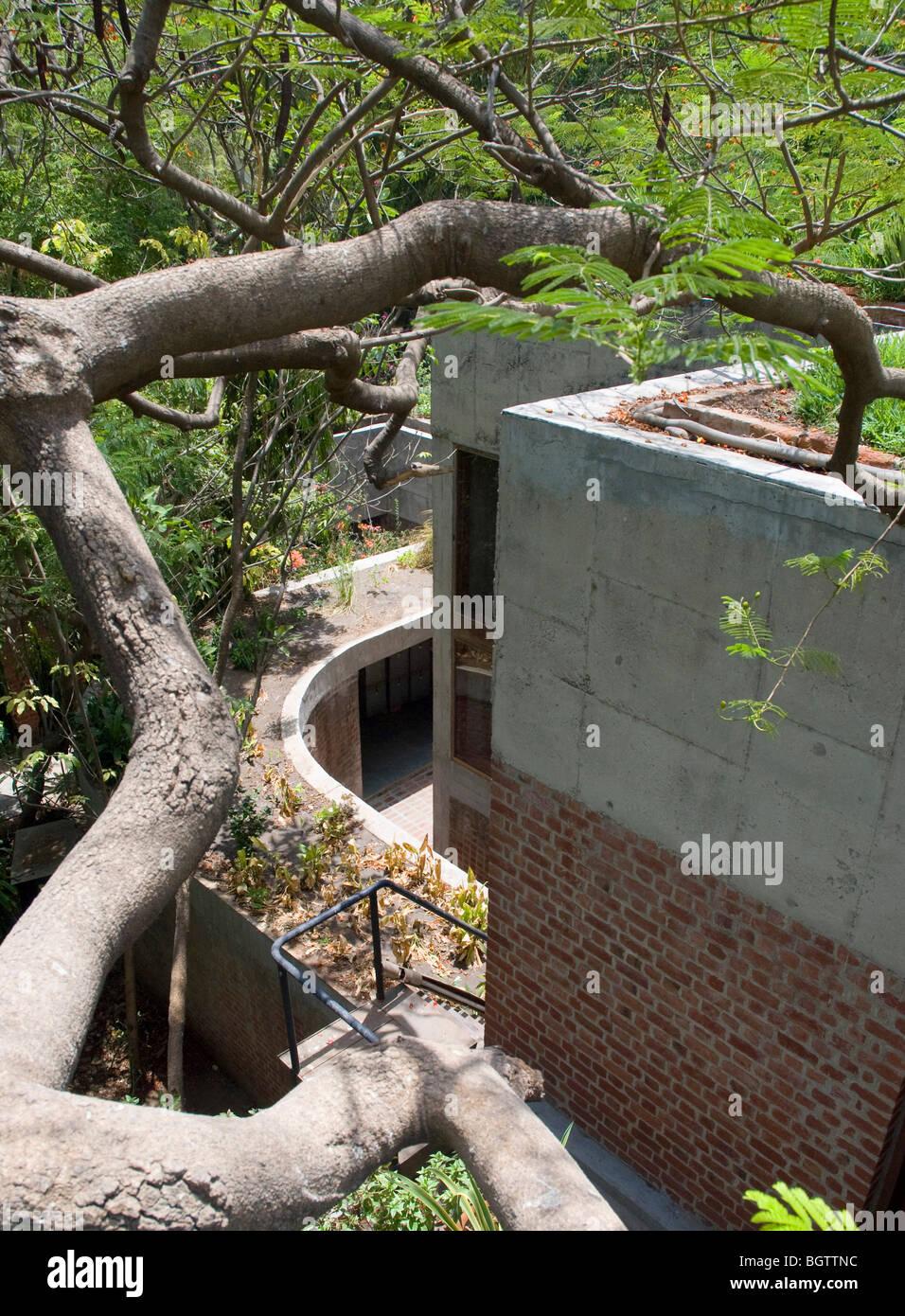 SARABHAI HOUSE, AHMEDABAD, INDIA, LE CORBUSIER - Stock Image