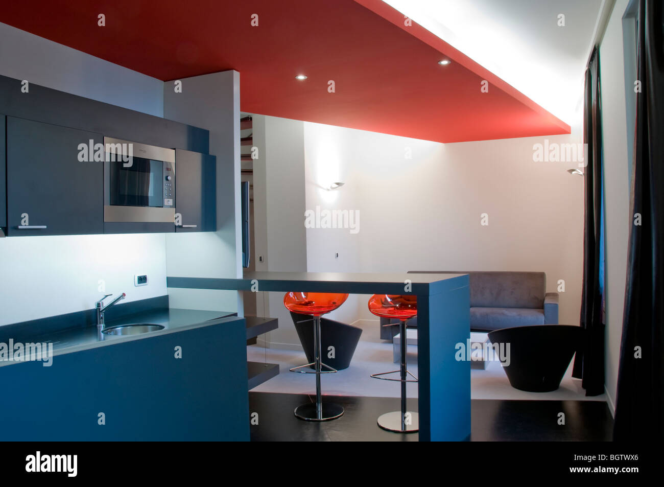 Kitchen Studio Modern Luxury Hotel Room Stock Photos