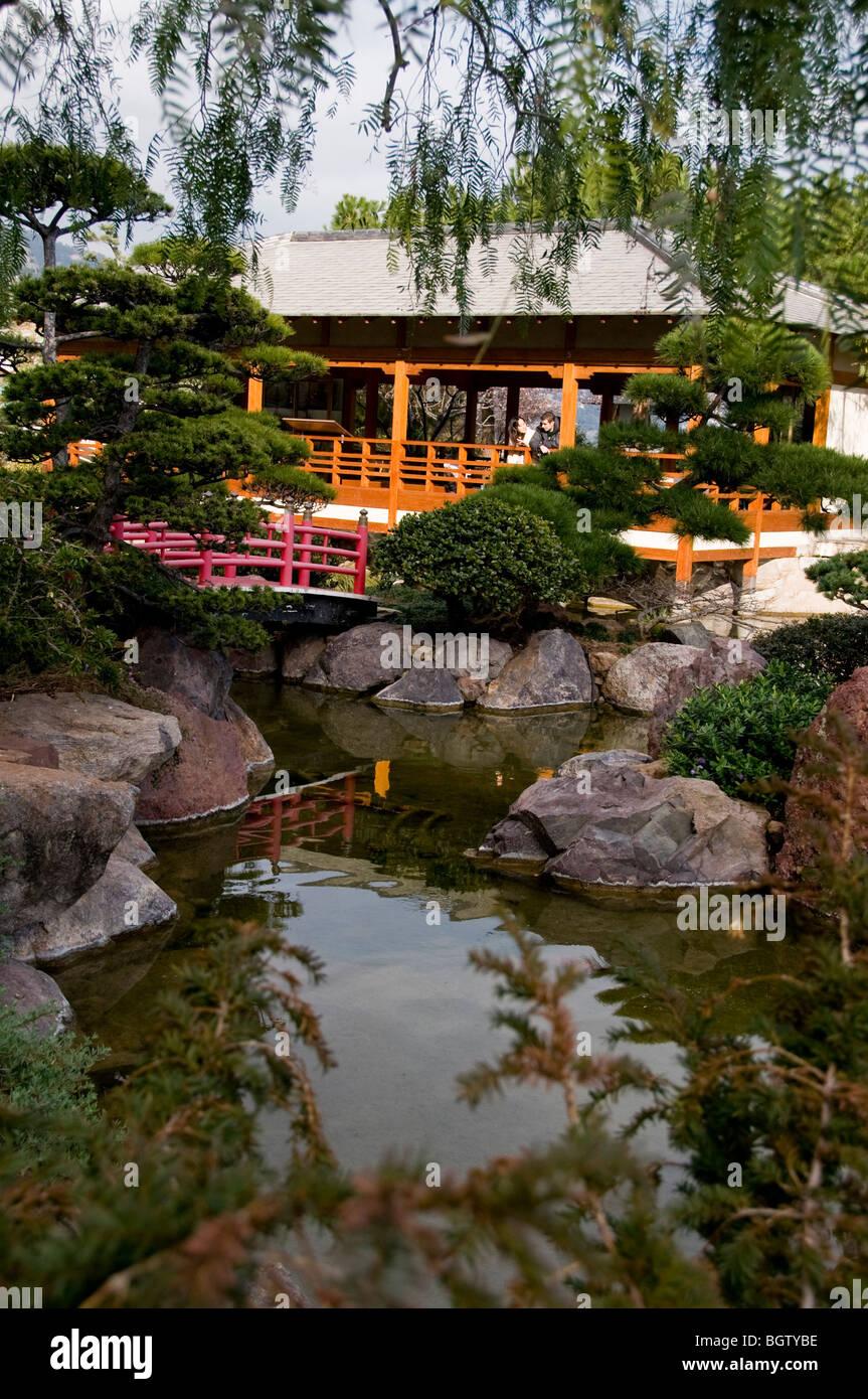 Monaco Monte Carlo City Park Japanese Garden Jardin Japonais