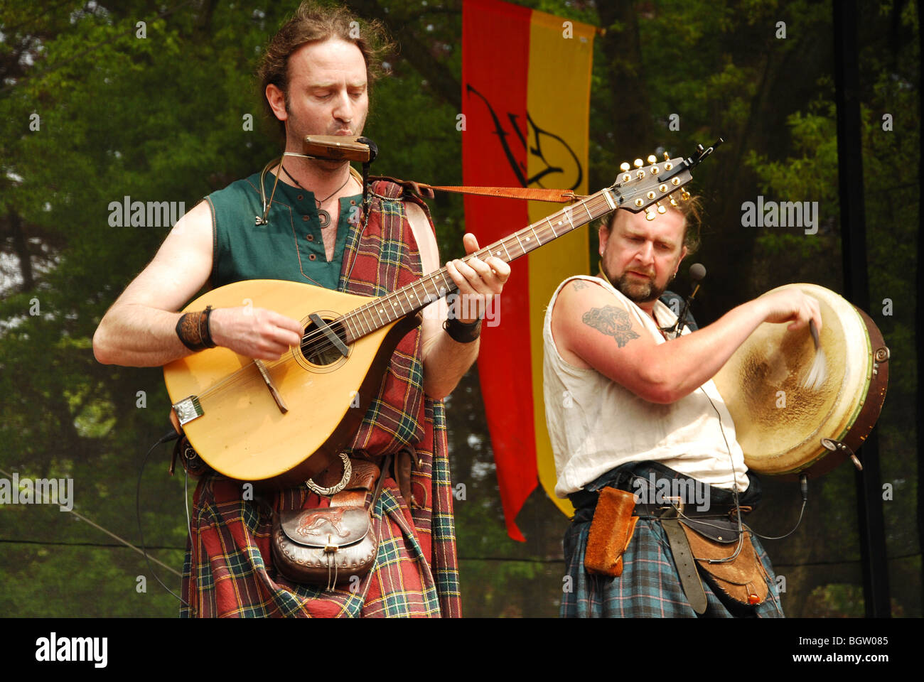 Rapalje, traditional Dutch folk band on stage Stock Photo