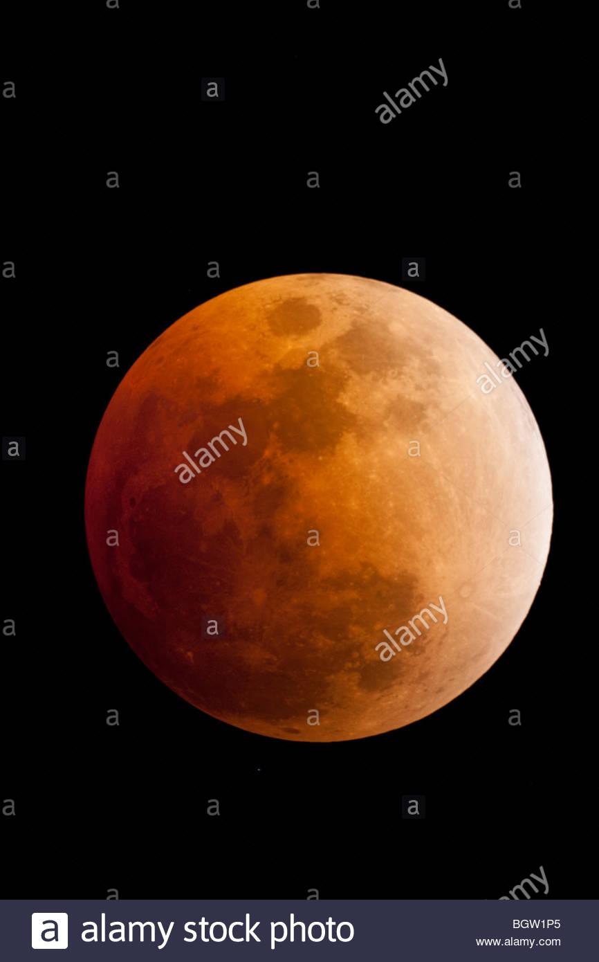 Lunar Eclipse, Northeast Florida (February 20, 2008) Stock Photo