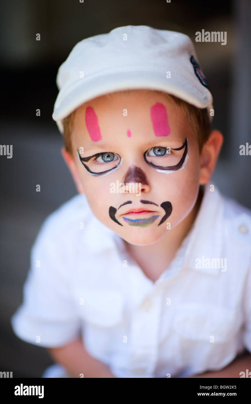 Portrait of 4 years old boy Stock Photo