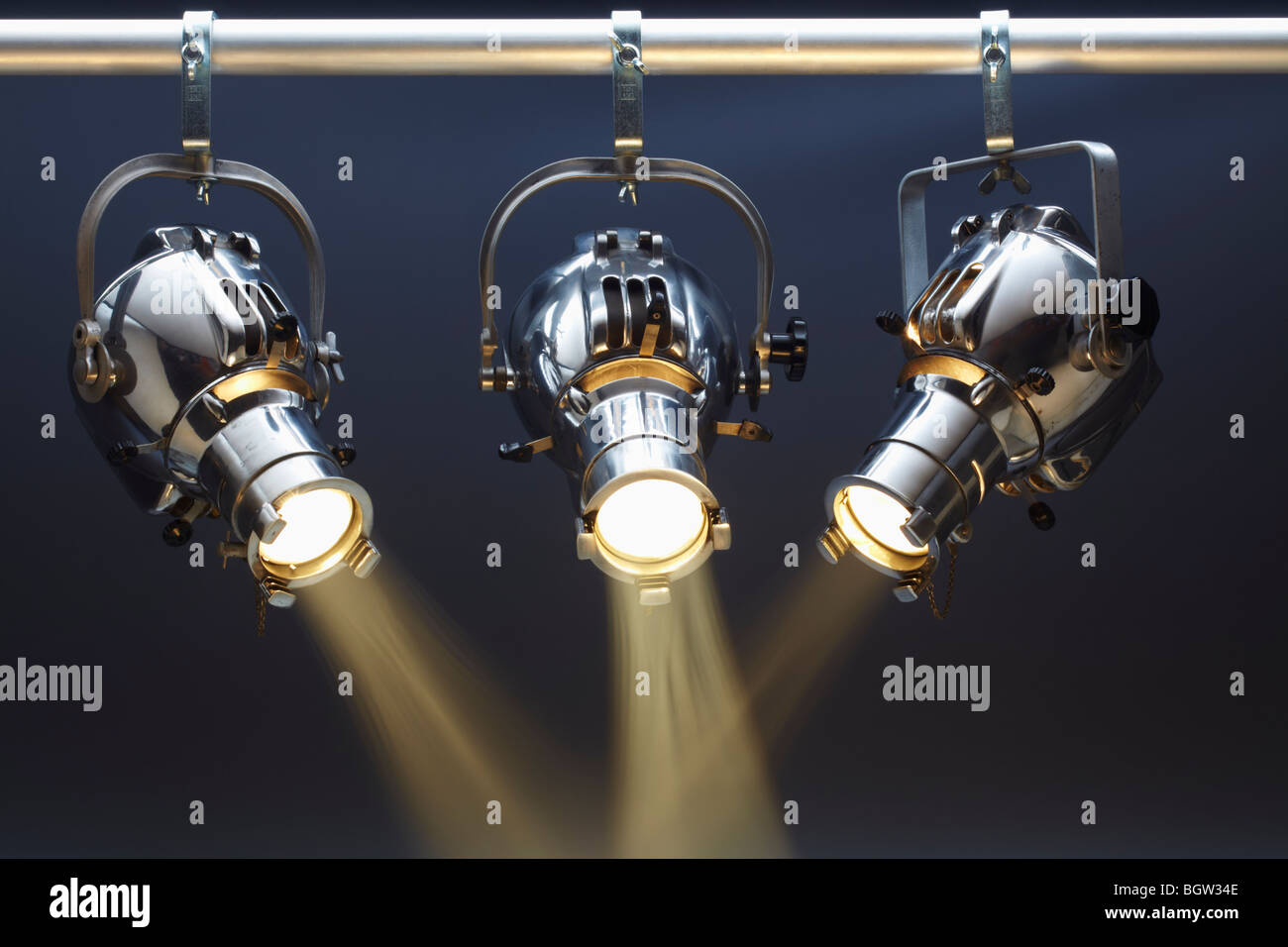 Three Spotlights - Stock Image