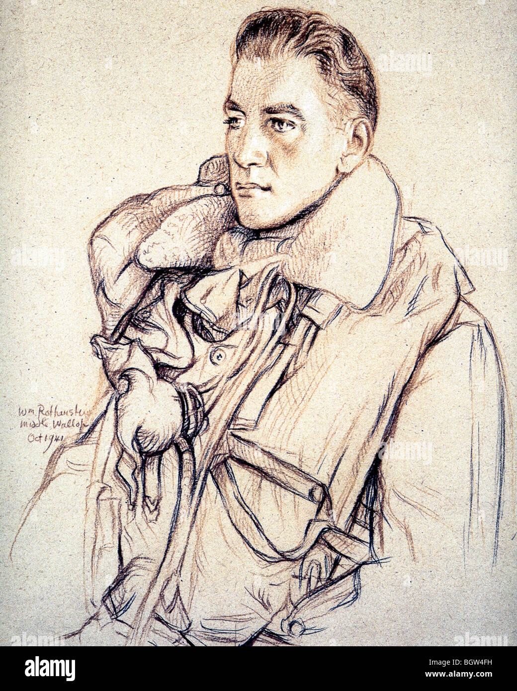 ROBERT DALTON RAF officer who fought in the Battle of Britain - Stock Image
