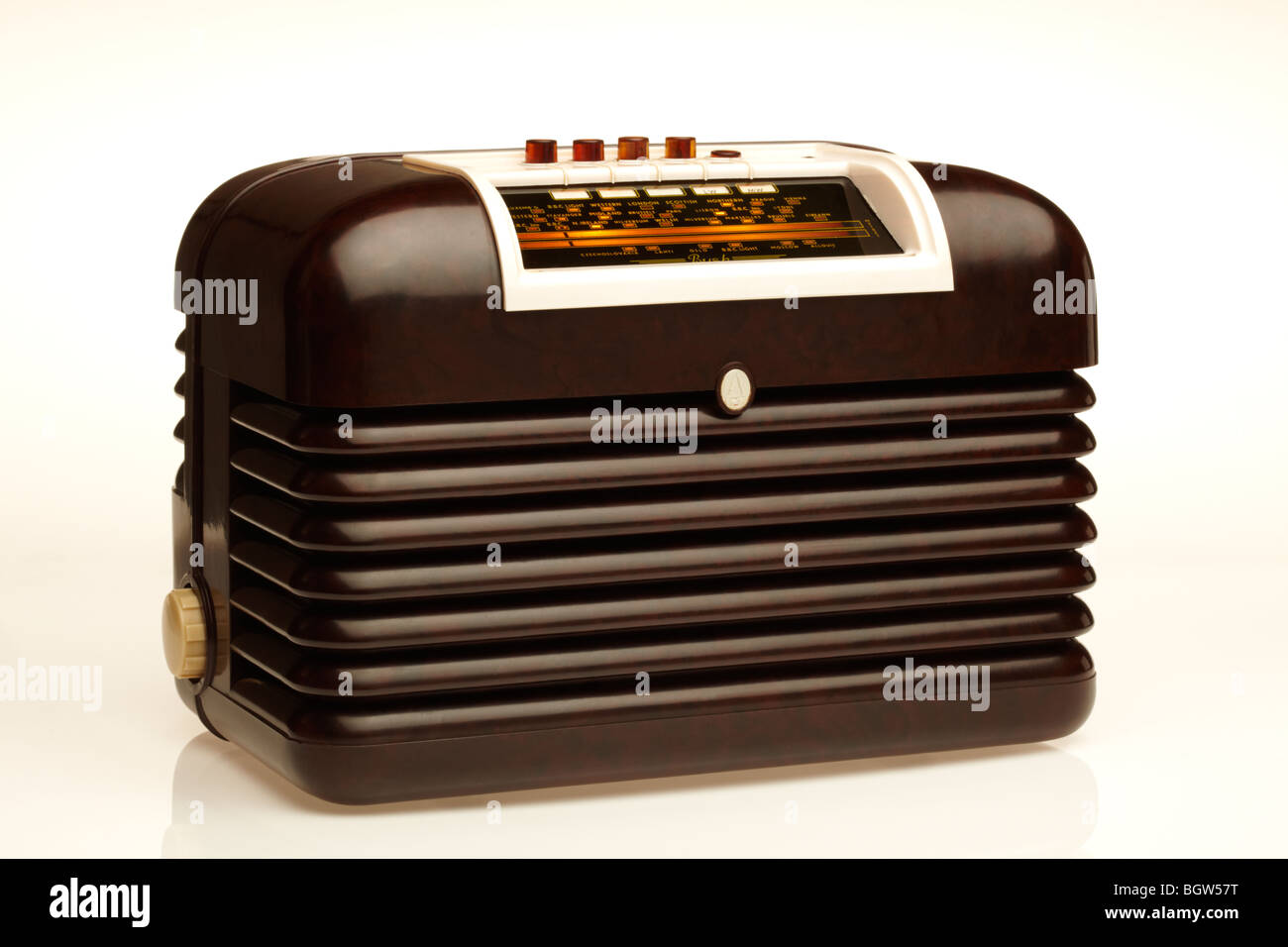 Bakerlite Radio - Stock Image