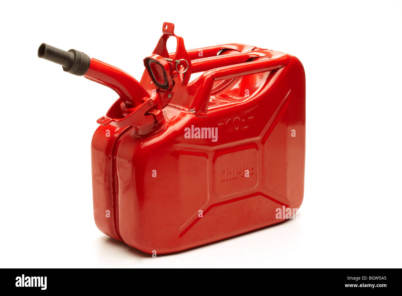 Red Petrol Can - Stock Image