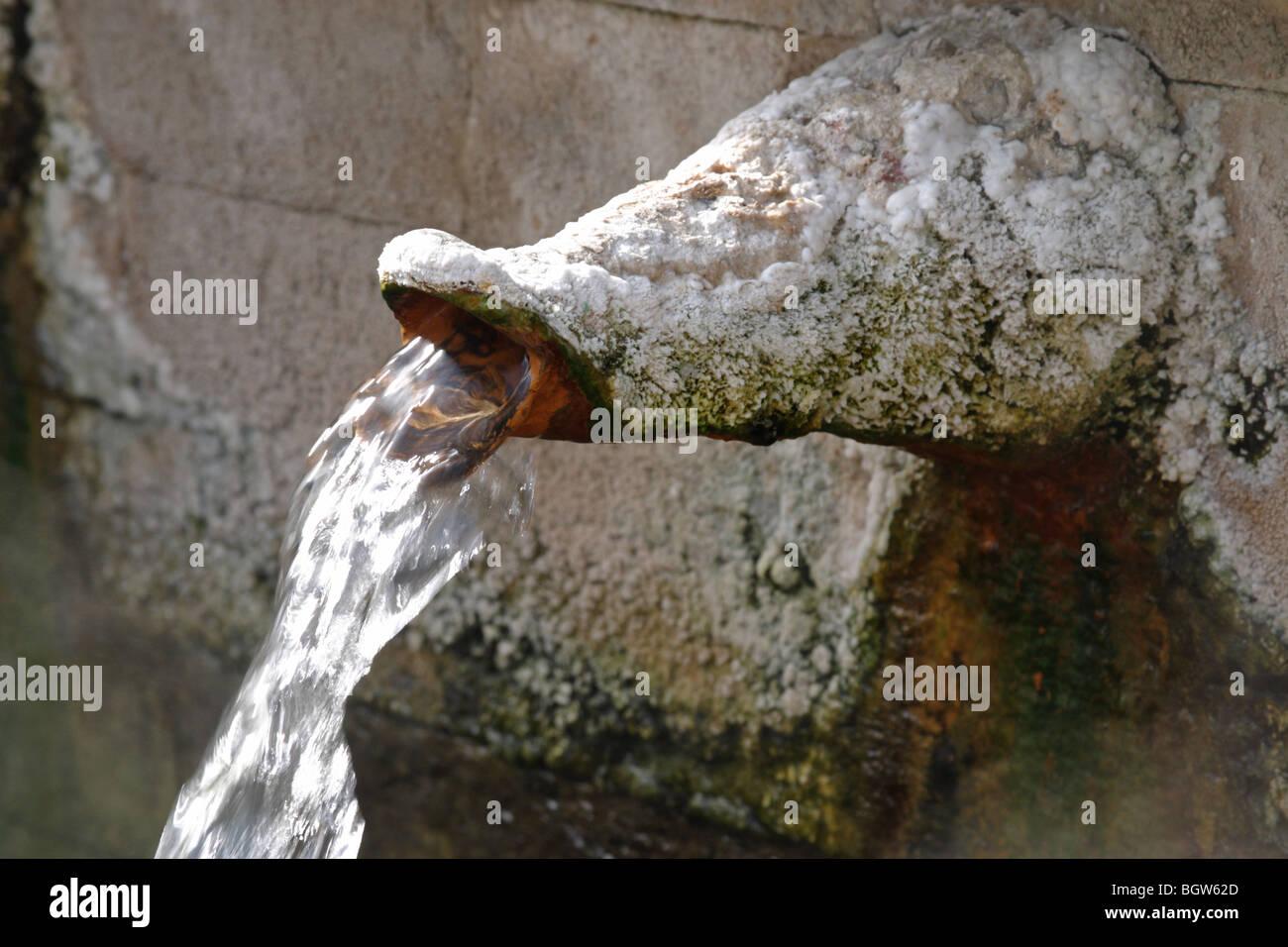spout of fountain, Bulgaria, Europe - Stock Image