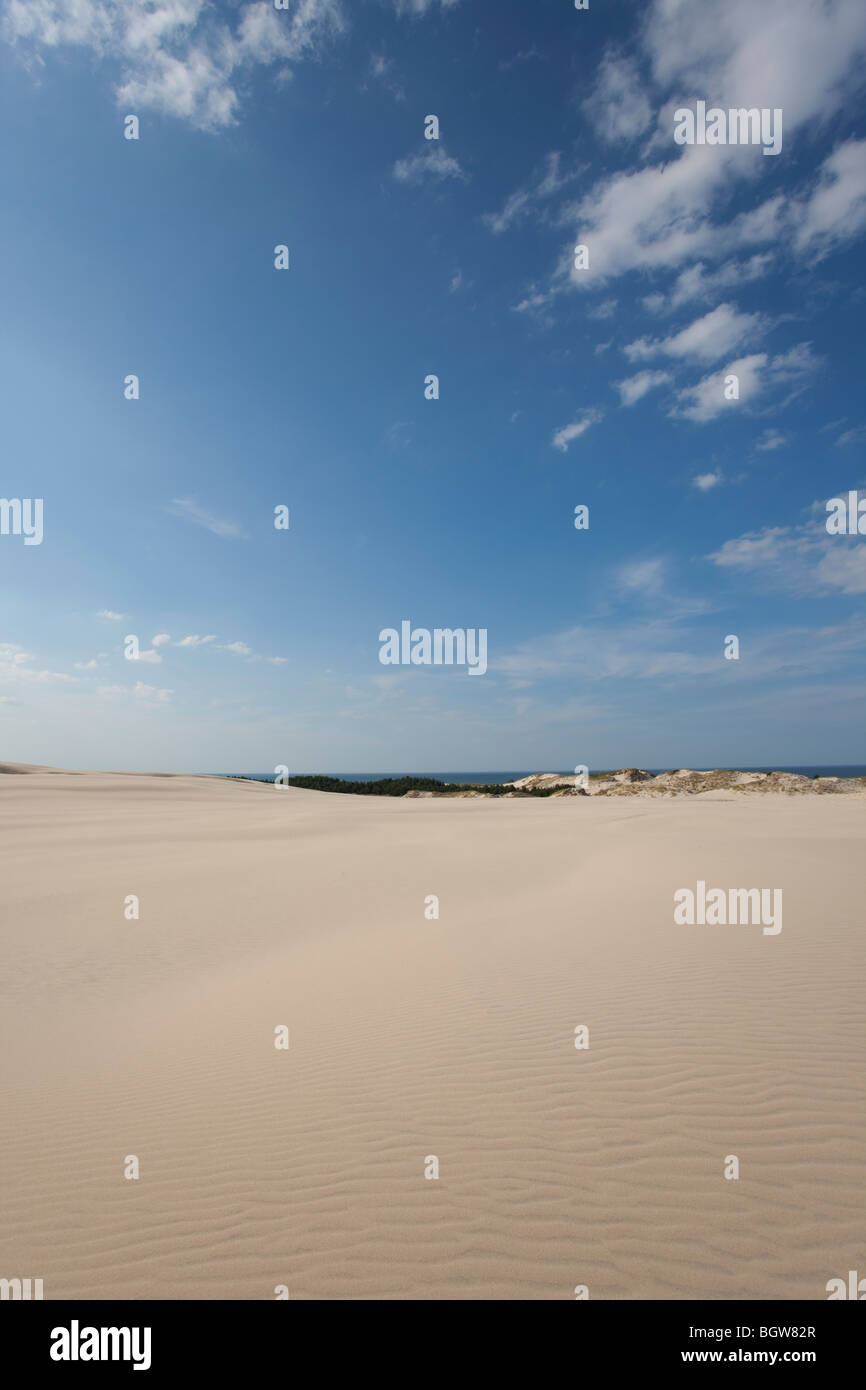 Waves of sand - formed by wind and water Stock Photo
