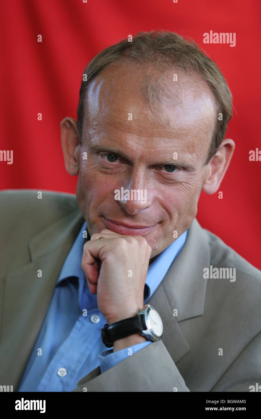 ANDREW MARR, journalist, former editor of The Independent newspaper. Edinburgh International Book Festival 2005, Stock Photo