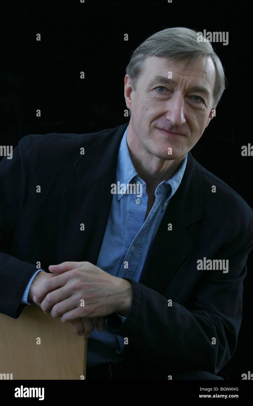 British English author Julian Barnes, at the 2004 Edinburgh INternational Book Festival, Scotland. - Stock Image