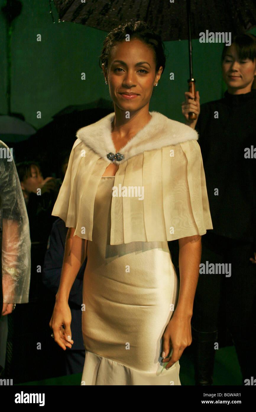 American actress Jada Pinkett Smith at the world premier of Matrix Revolutions movie in Tokyo, Japan, 05.11. 2003. - Stock Image